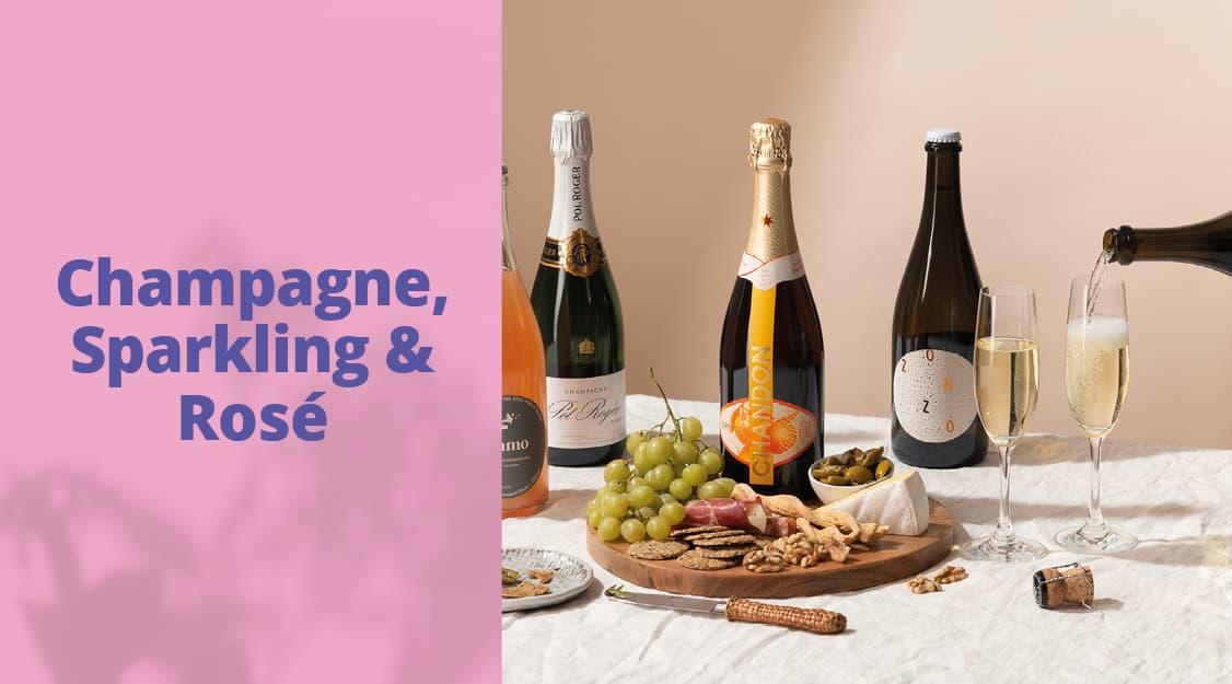 Champagne, Sparkling & Rosé banner