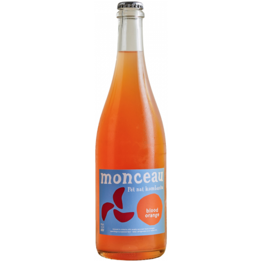 <p>Blood Orange<span>&nbsp;is brewed with blood oranges from the South Australian Riverland, yielding floral, aromatic notes and a spritzy balance of sour and sweet.</span></p><p>Monceau is an ultra low-alc alternative to sparkling wine — unlike any other kombucha you have tried. Designed to pair with food and be enjoyed in your best stemware.</p><p>Born out of a passion for low intervention, natural ferments, it elevates the flavour profile of kombucha to the level of natural wine, craft beer and cider, creating a sophisticated, complex drinking experience. With almost no alcohol (~1% ABV), Monceau Pét Nat Kombucha is the kind of drink you want to share with friends and family over dinner.</p><p>Utilising an ancestral method borrowed from pétillant naturel winemaking, Monceau undergoes two fermentations. The second fermentation, in-bottle, creates natural carbonation and ever-evolving flavour profiles.</p>