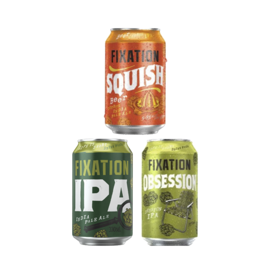 <p>Hops are the Fixation. These guys double down on the raw flavour power of IPAs. Inspired by the IPA-forward craft scene in the US, Fixation are hoppin' harder than any other Aussie brewery. Bigger, bolder, better.</p><p>&nbsp;</p><p>12 x Fixation Obsession 375ml</p><p>8 x Fixation IPA 330ml</p><p>4 x Fixation Squish Citrus IPA 330ml</p><p>&nbsp;</p>