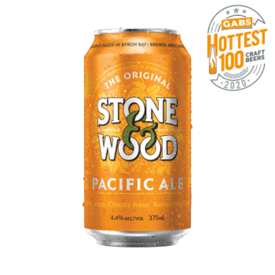 """<p>They say, <em>""""Inspired by our home on the edge of the Pacific Ocean and brewed using all Australian barley, wheat and Galaxy hops, Pacific Ale is cloudy and golden with a big fruity aroma and a refreshing finish.""""</em></p><p>&nbsp;</p><p>Local independent brewers Stone &amp; Wood wanted to pack all the Byron Bay vibes into beer: laid-back life, natural beauty, sustainability and community. As well as their commitment to 'Beer as a Force For Good', what you get here is approachable beer. Beer like a swim at the beach or a hike in the hinterland. Beer from where you'd rather be.</p>"""