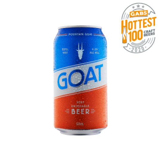 """<p>They say, <em>""""It's an uncomplicated, anytime sort of beer with a Mountain Goat twist.&nbsp;Thanks to a generous allotment of Australian Galaxy and Ella hops and a&nbsp;painstaking fermentation schedule we've landed on this clean, balanced lager. It's one very enjoyable beer.""""</em></p><p>&nbsp;</p><p>Brewing since '97, still going strong. Mountain Goat are Melbourne legends, and hardy as heck. They've led the way for craft brewing with international awards and cool collabs - not to mention their Green Goat sustainability commitment.</p>"""