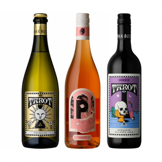 """<p dir=""""ltr""""><span>Based in McLaren Vale, Alpha Box and Dice have created </span><span>the Alphabet of Wine. Each letter embodies an individual project, style and innovation, which celebrates the diversity of the SA wine region.&nbsp;<br><br></span></p><p dir=""""ltr""""><span>Bending traditional winemaking norms has worked in their favour, with exciting couplings between vineyard and variety, these wines are individually interesting and offer diverse flavours. After starting here, you'll want to work your way through the whole Alphabet soon enough. </span></p><p><br>1 x Alpha Box &amp; Dice 'Tarot' Prosecco NV Brut, Murray Darling, SA</p><p>1 x Alpha Box &amp; Dice 'Tarot' Rose, McLaren Vale, SA&nbsp;</p><p>1 x Alpha Box &amp; Dice 'Tarot' Grenache, South Australia</p>"""