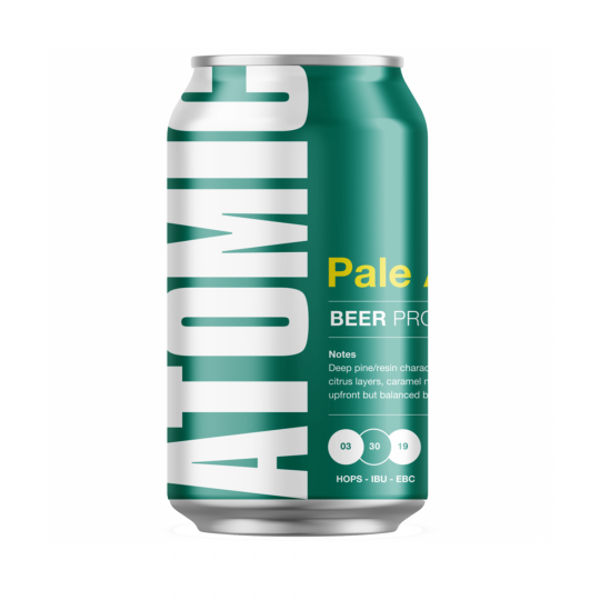<p>Brewed with three hop varieties, full-flavoured with piny-citrus hop character &amp; loads of caramel malts, balanced by a refreshing bitterness.</p><p>&nbsp;</p><p>The Atomic Beer Project is an offshoot from the craft masters at Gage Roads Brewing Co, exploring hop-driven American-style beers. They lean towards the hoppy, zesty, bright and aromatic.</p>