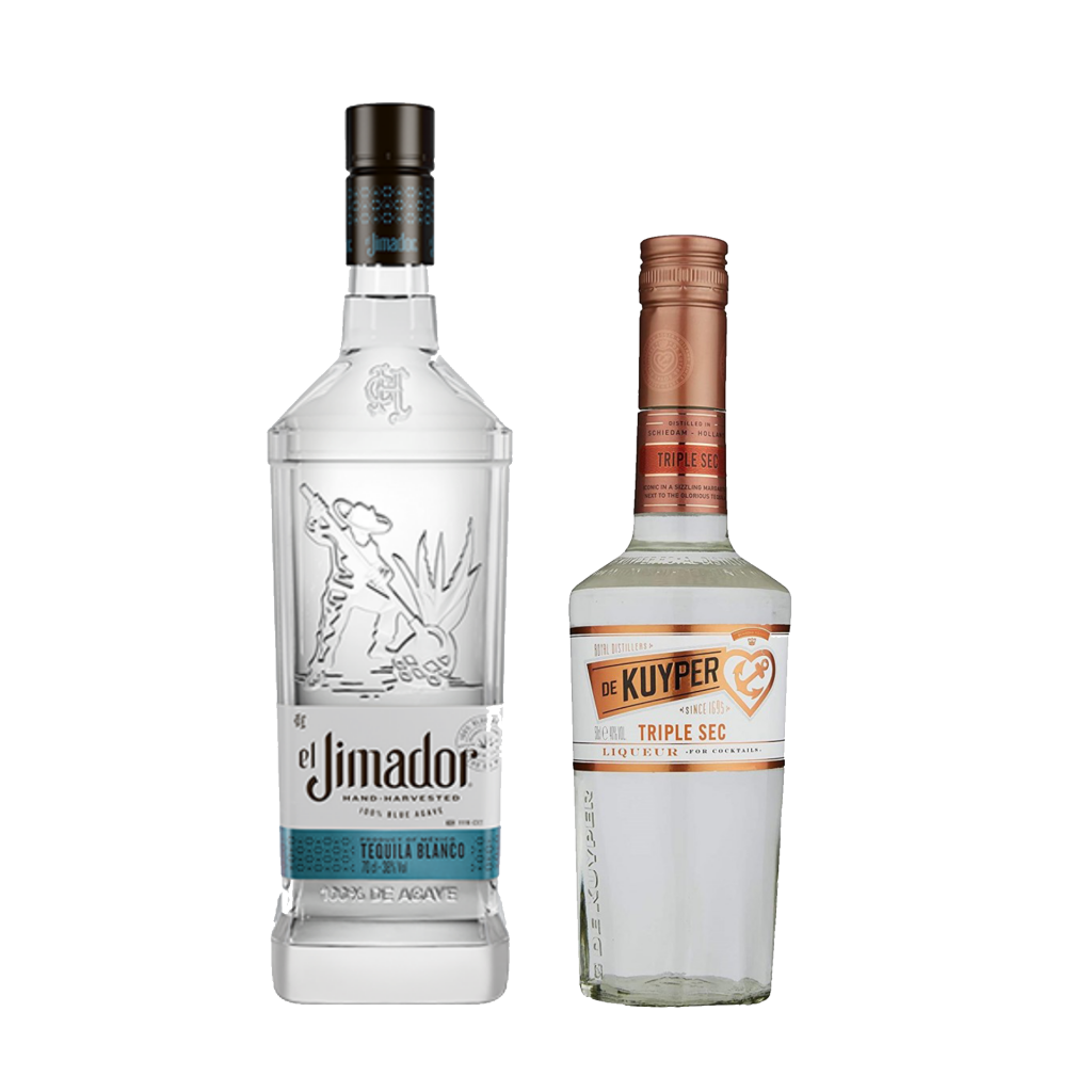 <p>We've made it oh-so-easy for you to get your margarita party started. Two ingredients, ice, a shaker - you've got a fiesta, my friend.</p><p>&nbsp;</p><p><strong>We'll send: </strong></p><p>1 x El Jimador Blanco 100% Agave Tequila 700ml <br> 1 x De Kuyper Triple Sec 500ml <br><br><br><strong>You'll need: </strong></p><p>Limes <br> Salt <br> An Old Fashioned Glass <br><br><br><strong>With these ingredients:</strong></p><p>Salt <br> 45ml El Jimador Reposado 100% Agave Tequila <br> 15ml De Kuyper Triple Sec <br> 30ml Lime Juice <br><br><br><strong>Do This:</strong></p><p>Rim the glass with salt and fill it with ice. <br> Shake all ingredients with ice and fine strain into the glass. <br><br><br><strong>This pack will make 15 cocktails </strong></p>