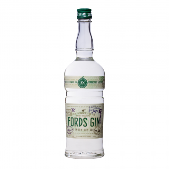 <p><span>Distilled in London at Thames Distillers, Fords Gin is a collaboration between 8th generation Master Distiller Charles Maxwell and Simon Ford of The 86 Co. The gin, a mix of 9 botanicals, starts with a traditional base of juniper &amp; coriander seed and is balanced by citrus (bitter orange, lemon &amp; grapefruit peel), florals (jasmine flower &amp; orris) and spices (angelica &amp; cassia).</span></p>