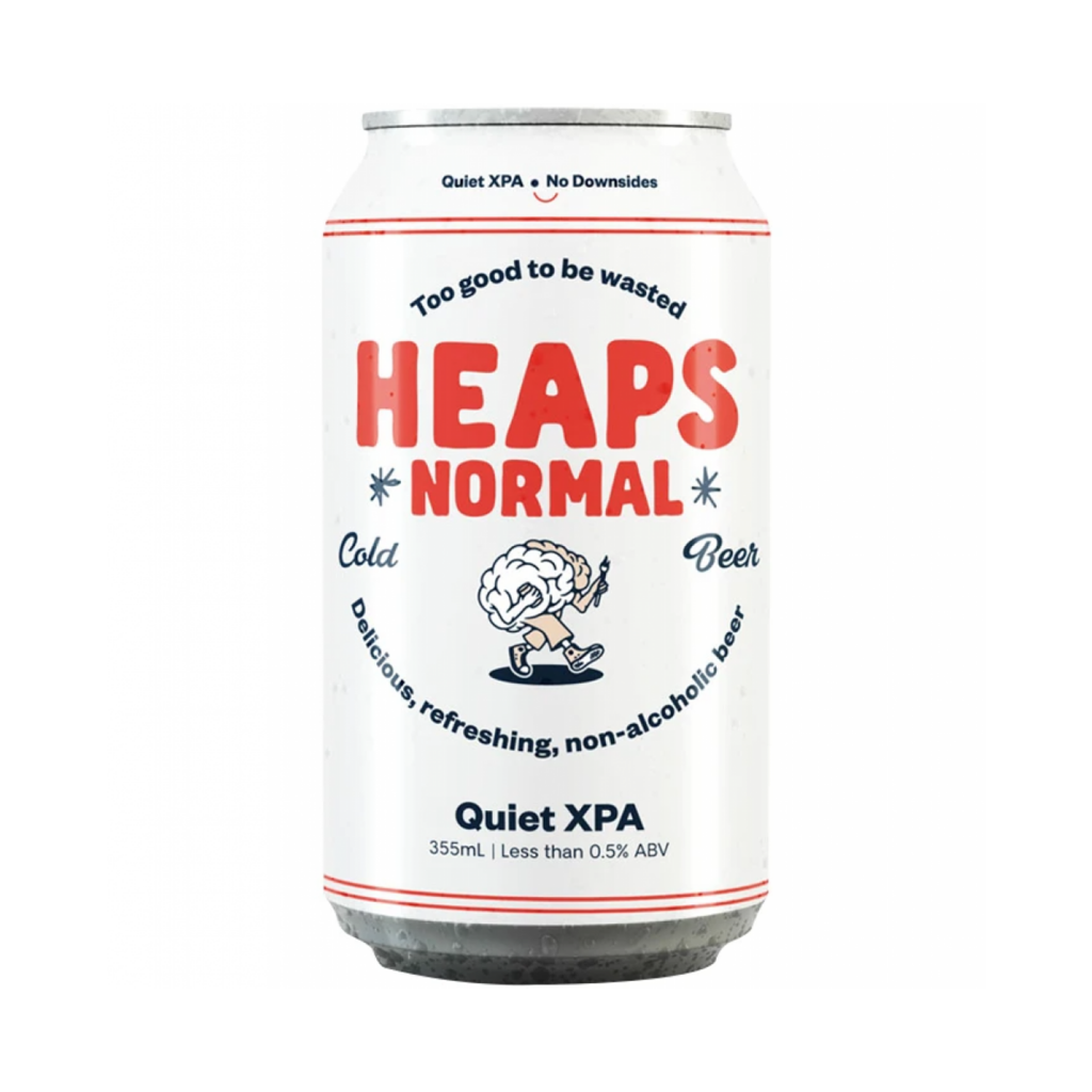 <p>Four friends were determined to craft a full-flavour non-boozy brew that'd satisfy every froth-lovin' legend - and so Heaps Normal was born. At less than 0.5% ABV, the Heaps Normal Quiet XPA still packs in some powerful tropical and citrus notes with the perfect balance of bitterness and malty sweetness.</p><p>&nbsp;</p><p>Super-low-ABV beer that still tastes like beer? That'll be the new normal. Heaps Normal.&nbsp;</p>