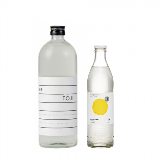 <p><strong>We'll send:</strong></p><p>1 x Toji Sake Junmai Daiginjo 720ml <br>2 x 4 Pack of Strangelove Yuzu Soda 300ml</p><p>&nbsp;</p><p><strong>You'll need:</strong></p><p>A Highball Glass <br> Lemons for garnish</p><p>&nbsp;</p><p><strong>In an ice filled glass, pour:</strong></p><p>45ml Toji Sake Junmai Daiginjo<br> 90ml Strangelove Yuzu Soda</p><p>Garnish with a twist of Lemon</p><p>&nbsp;</p><p><strong>This pack will make 16 drinks </strong></p>