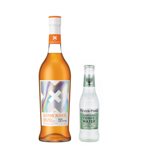 <p><strong>We'll send:</strong></p><p>1 x X By Glenmorangie 700ml <br>2 x 4 pack of Fever Tree Elderflower Tonic 200ml</p><p>&nbsp;</p><p><strong>You'll need:</strong></p><p>A Highball Glass <br> Lemons <br><br><br><strong>In an ice filled glass, pour:</strong></p><p>50ml X By Glenmorangie <br> 20ml Lemon Juice <br> Top with Fever Tree Elderflower Tonic <br><br><br>Garnish with a twist of lemon</p><p>&nbsp;</p><p><strong>This pack will make 14 drinks </strong></p>