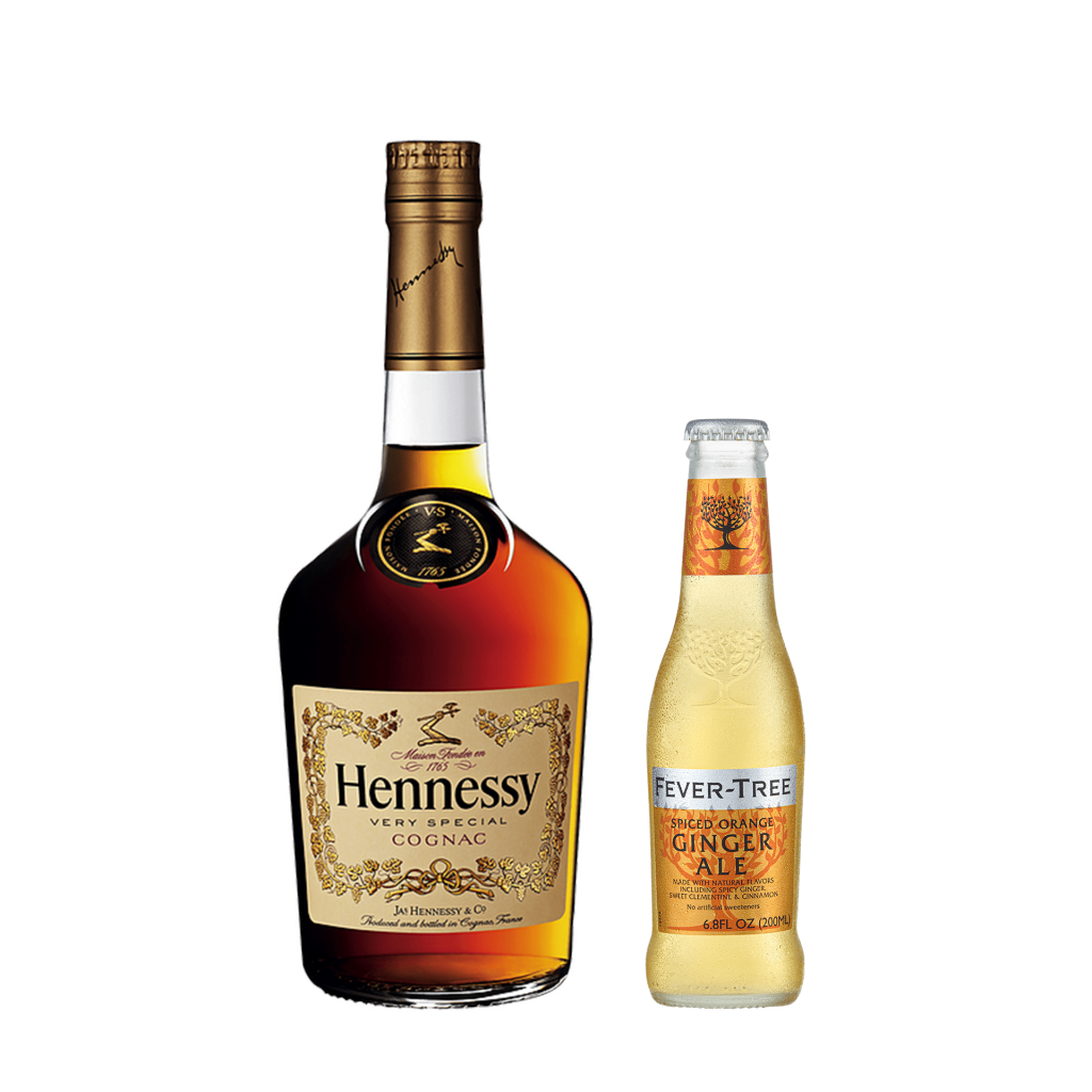 <p><strong>We'll send:</strong></p><p>1 x Hennessy VS Cognac 700ml <br>2 x 4 pack of Fever Tree Spiced Orange Ginger Ale 200ml</p><p>&nbsp;</p><p><strong>You'll need:</strong></p><p>A Highball Glass <br> Limes <br><br><br><strong>In an ice filled glass, pour:</strong></p><p>50ml Hennessy VS Cognac <br> 10ml Lime Juice <br> Top Fever Tree Spiced Orange Ginger Ale <br><br><br>Garnish with a wedge of lime <br><br><strong>This pack will make 14 drinks</strong></p>