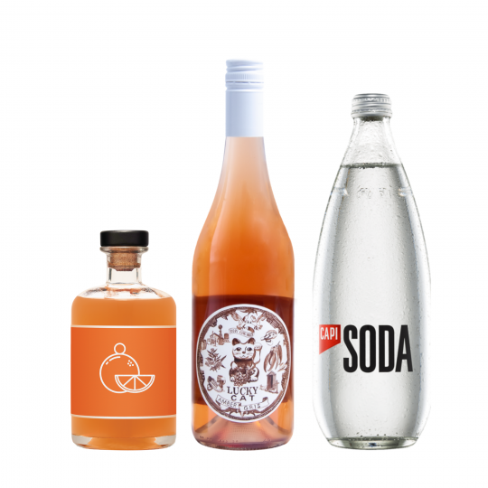 <p><strong>We'll send:</strong></p><p>1 x Unico Mando 500ml <br>1x Lucky Cat Amber Gris 750ml <br>1x Capi Soda Water 750ml <br><br><br><strong>You'll need:</strong></p><p>A Wine Glass <br> Oranges to garnish <br><br><br><strong>In an ice filled glass, pour:</strong></p><p>30ml Unico Mando<br> 45ml Lucky Cat Amber Gris<br> 90ml Capi Soda Water<br><br><br>Garnish with a slice of Orange</p><p>&nbsp;</p><p><strong>This pack will make 16 drinks</strong></p>