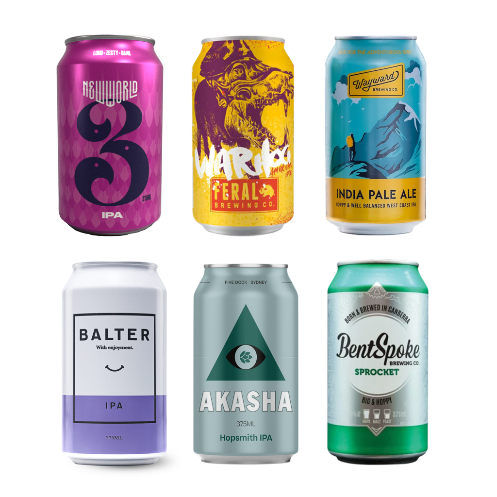 <p>When you love hops and everything they bring to the table, this is your perfect mixtape. Fruitiness, bitterness, a touch of the tropical - appreciate the power of the humble hop.</p><p><br>4 x Akasha Brewing Hop Smith IPA Cans 375 ml</p><p>4 x Bentspoke Sprocket IPA 375 ml</p><p>4 x Balter India Pale Ale 375 ml</p><p>4 x Feral War Hog Cans 375 ml</p><p>4 x Wayward Brewing IPA Cans 375 ml</p><p>4 x 3 Ravens New World IPA Cans 375 ml</p>