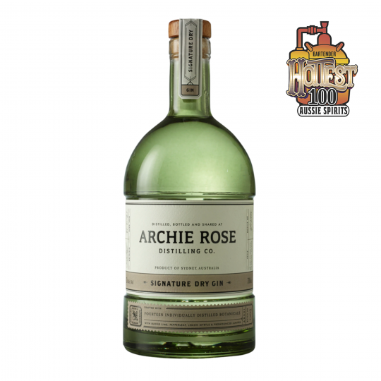 """<p>They say, <em>""""Perfectly balanced and wonderfully complex, it's accented by native Australian botanicals, including blood lime, Dorrigo pepperleaf, lemon myrtle and river mint. All underpinned with pronounced juniper.""""</em></p><p>&nbsp;</p><p>Australia's most highly awarded distillery. Gin, whisky and vodka: whatever the Archie Rose distillers turn their hands to, they master - then take it to the next level.</p><p>&nbsp;</p>"""