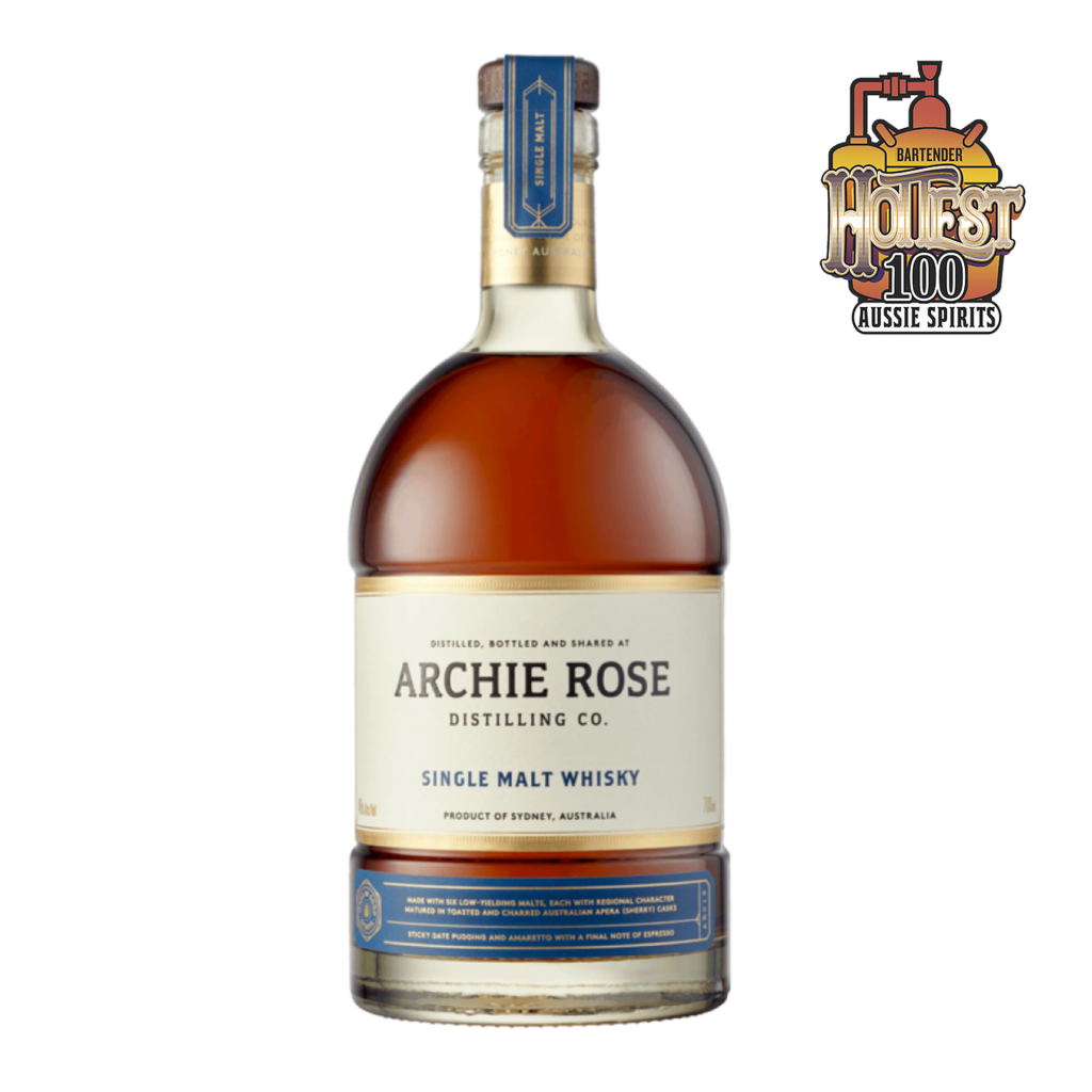 <p><span>Archie Rose Single Malt Whisky is distinctly crafted to highlight six malts, each with a unique profile and character. This six-malt mash bill, although incredibly low yielding, provides a rich and expressive flavour, full of distinct regional character.<br></span><br><br><span>Matured predominantly in 100, 200 and 300-litre Australian Apera (Sherry) casks, complemented by a selection of Ex-Bourbon and Archie Rose's own 36-month air dried Ex-Rye Casks, each coopered with a specific balance of both char and toast.<br></span><br><br><span>The natural sweetness of these casks complements the savoury charisma of the spirit, revealing fresh herbs, shortbread biscuits, raisins, toffee and dark chocolate on the nose. Meanwhile, the palate is luscious with well-integrated flavours of sticky date pudding and amaretto with a final note of espresso.</span></p>