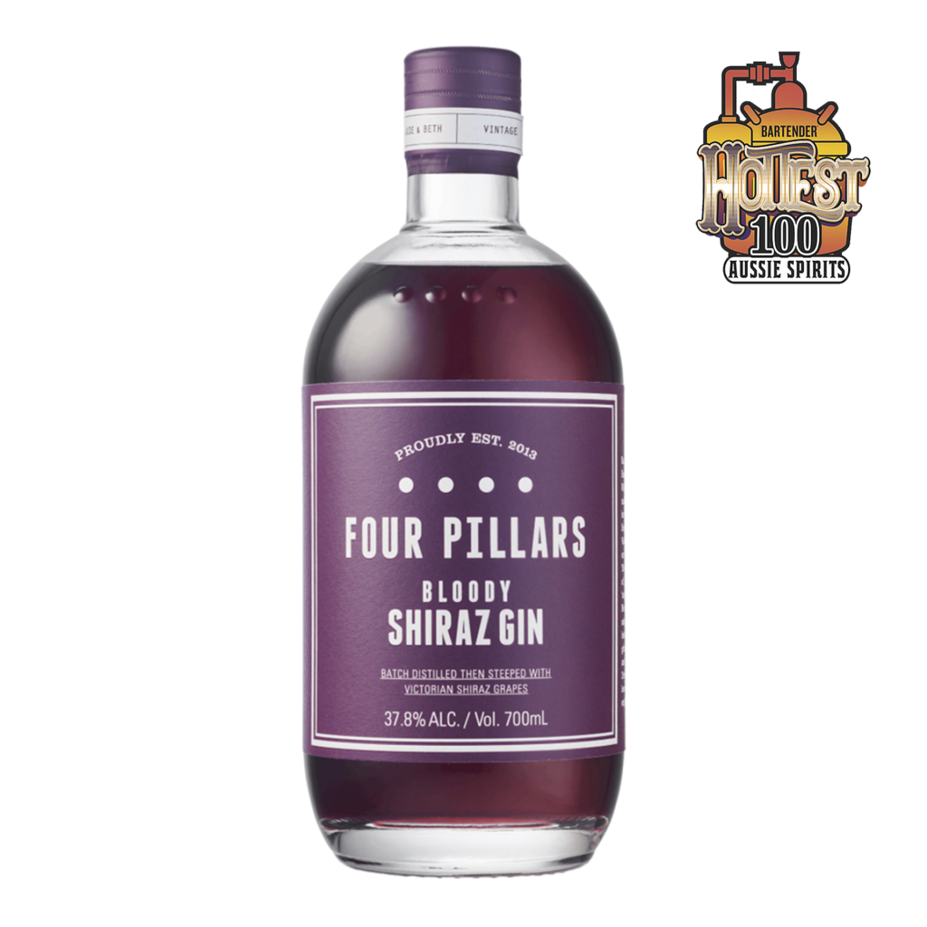 """<p>What started as a wild experiment with Yarra Valley shiraz grapes has become a core gin of the Four Pillars range. When you're distilling craft gin in the heart of Victoria's cool climate wine country, this combo just makes sense. Bloody Shiraz is, as they say, """"bloody delicious, seriously drinkable"""", with a fruity sweetness from the steeped grapes that doesn't overwhelm the spice and juniper of the gin at its heart. This unique gin won its first award in 2020 - first of many, we're bloody certain.</p><p>&nbsp;</p><p>Four Pillars have been slinging the finest gin outta Healesville since 2013. Specialist gins. Award-winning gins. Gins for every cocktail and straight-sippin' liquor-lover.&nbsp;It's no wonder they scooped up IWSC International Gin Producer of the Year for the second year running.</p>"""