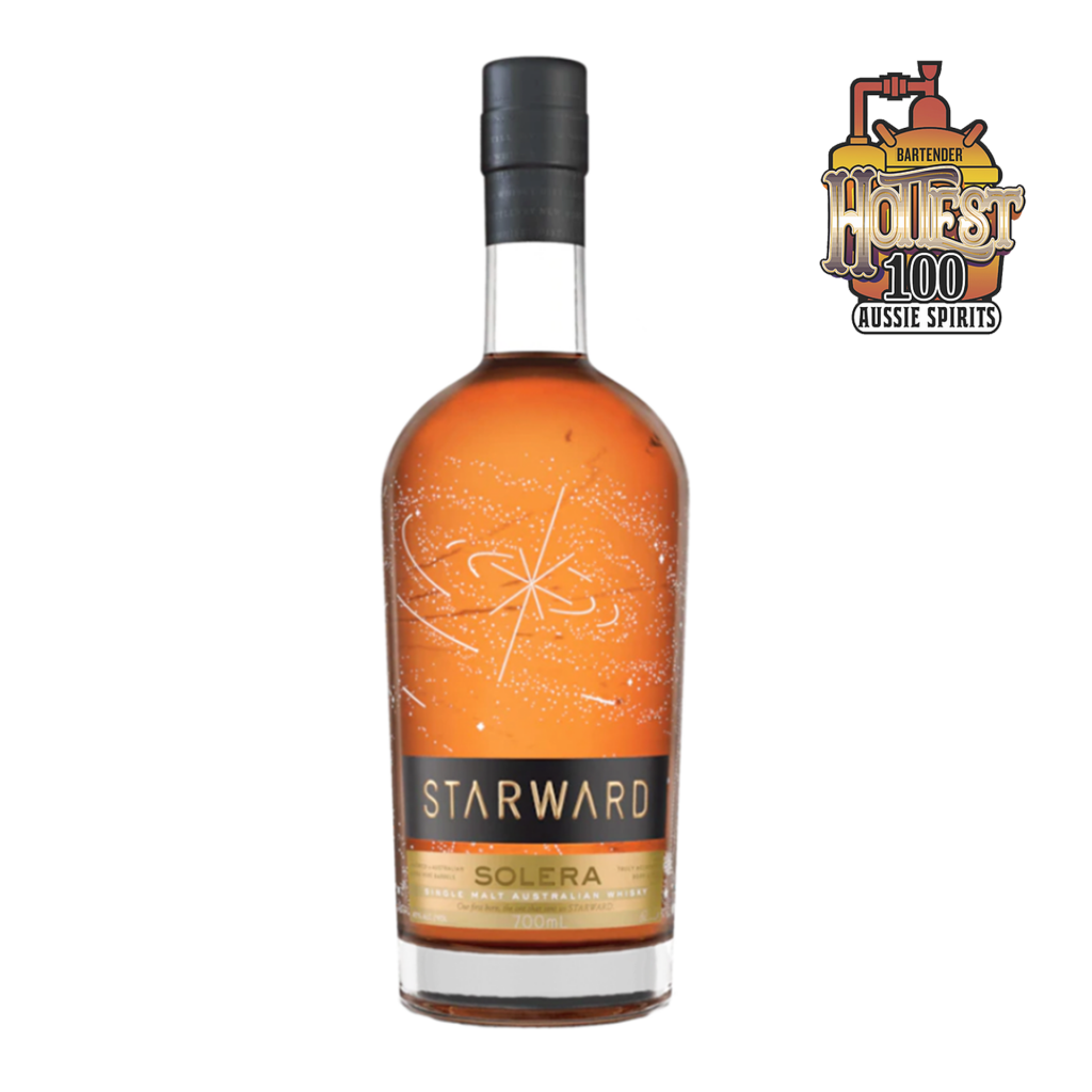 """<p>They say, <em>""""Our rich, complex original. Solera is fully matured in carefully selected Apera casks, an Australian fortified wine that's similar to Sherry.&nbsp;Rich and well balanced. Jammy fruits, creme brûlée and spice with a lingering dry finish.""""</em></p><p>&nbsp;</p><p>The Starward crew are all about flavour (like any Melbourne foodie) and doing things their own way. With local ingredients, Aussie wine barrels, and a special 'elemental maturation' (that means three years of maturation in the insane Melbs microclimate), you couldn't make this whisky anywhere else in the world.</p><p>&nbsp;</p>"""