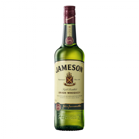 """<p>Triple distilled for the Jameson signature smoothness and aged in oak casks for a minimum of 4 years.</p><p>&nbsp;</p><p>They say, <em>""""The perfect balance of spicy, nutty and vanilla notes with hints of sweet sherry and exceptional smoothness."""" </em></p><p>&nbsp;</p><p>When it's Jameson in your glass, you'll know you've got the luck of the Irish. That characteristic smoothness makes it the blended whiskey of choice across the globe. This fella is right at home in a hip flask, on the rocks or with your go-to mixer. Jameson is your best Irish pal, and charmingly easy to drink.</p>"""