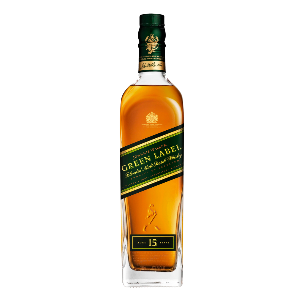 <p>Discover a range of deep wood notes, lush with oak and cedar. Aged for 15 years, Johnnie Walker Green Label combines these richer flavours masterfully with light garden fruits and tropical, fragrant, floral notes.</p><p>&nbsp;</p><p>Johnnie Walker is the most widely-distributed brand of blended whisky in the world, so you know they're doing something right. It's all in the power of the perfect blend: finding the balance of different malt whiskies to make something truly unique. It's whisky that couldn't happen any other way. Whether in a classic Johnnie highball or sipped neat, you'll find nothing else in the world quite like our lad Johnnie.</p>