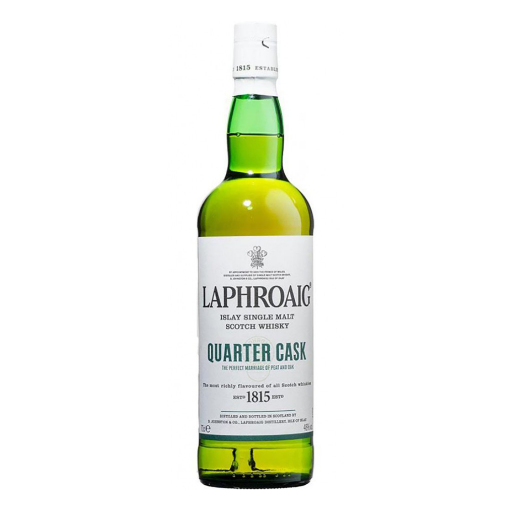 <p>This expression offers an irresistible doubling&nbsp;of flavour due to the double maturation in&nbsp;two casks made of American oak. Still-maturing whisky from our standard ex-bourbon&nbsp;barrels is transferred to quarter casks&nbsp;and left to rest in our warehouse just a stone's&nbsp;throw from the Atlantic shore. This process represents Laphroaig breathing&nbsp;new life into a once-defunct tradition: the&nbsp;use of the smaller cask size, which ensures&nbsp;increased contact with the oak, creating a soft&nbsp;and velvety edge to complement Laphroaig's&nbsp;distinctive peatiness.</p><p>&nbsp;</p><p>On the nose the sensation is toffee and&nbsp;caramel, caused by the vanillas and tannins of&nbsp;the American oak, plus a dryness from the&nbsp;wood oil. The finish is long and alternates between this&nbsp;sweetness and smoke.</p>