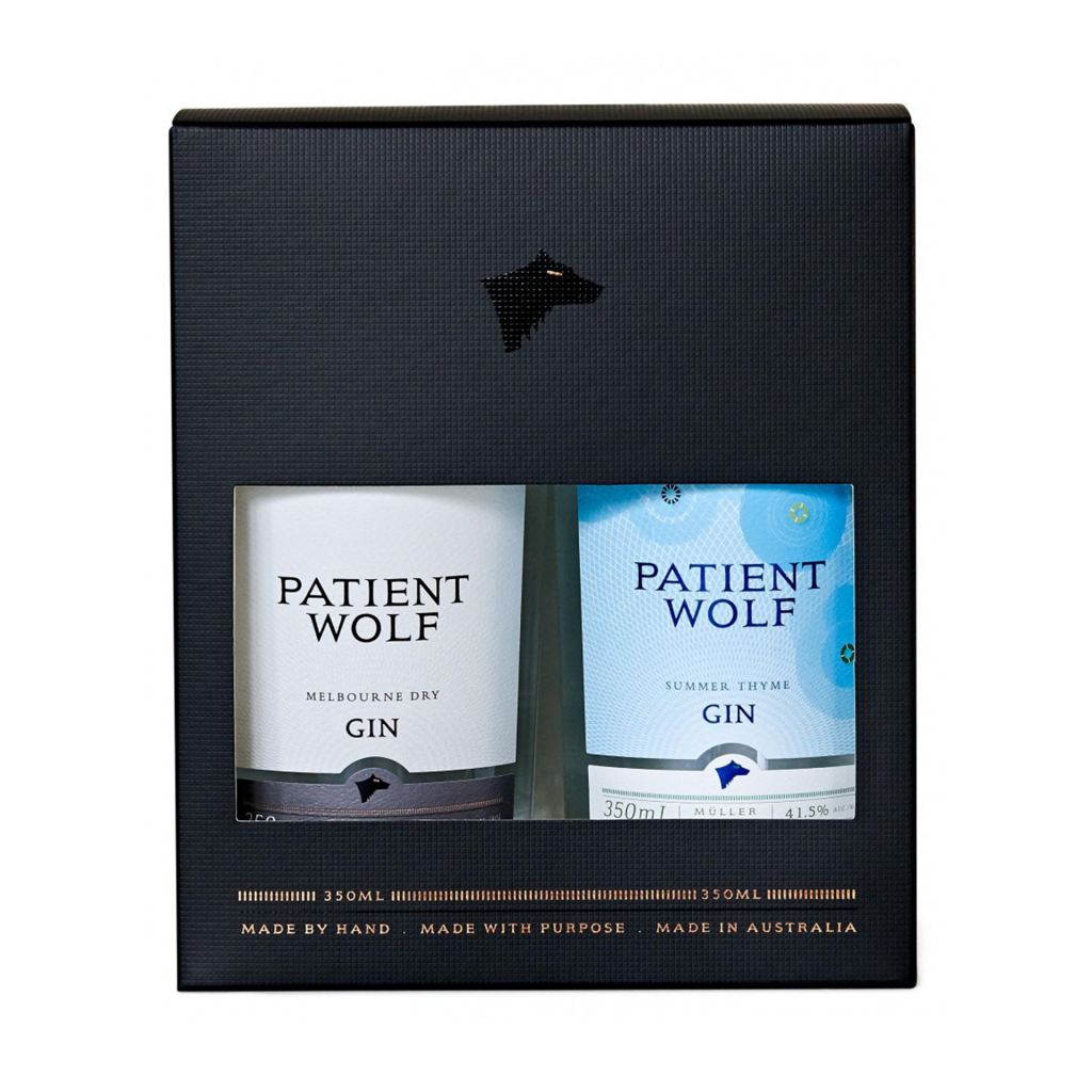 """<p>Melbourne Gin: Patient Wolf craft distillers offer a Melburnian take on the traditional London Dry gin, with familiar juniper and citrus notes and surprising additions of anise myrtle, cardamom, cubeb pepper and tonka beans.&nbsp;</p><p>&nbsp;</p><p><span class=""""s1"""">Summer Thyme Gin: Inspired by summer, for drinking all year round. Fresh thyme and lemons are vapour infused in our custom made M</span><span class=""""s2"""">ü</span><span class=""""s1"""">ller copper still to produce a lively gin bursting with lemon zest and delicate piney freshness. Best enjoyed poolside, in a hammock or on a rooftop.&nbsp;</span></p>"""
