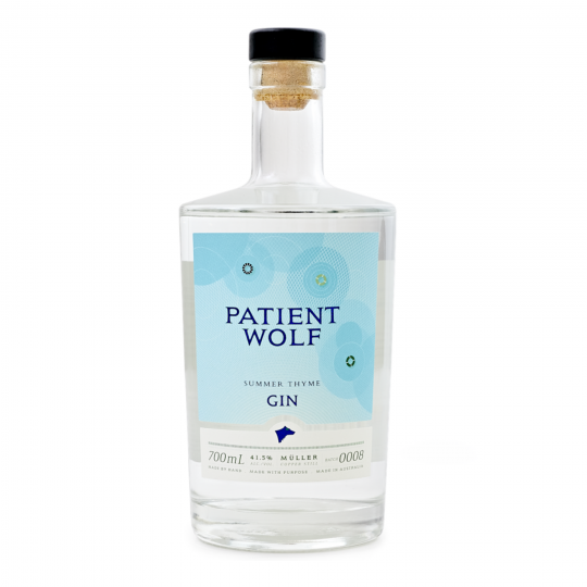 """<p>They say, <em>""""Lemon zest and fresh green thyme gives us a slightly lighter, refreshing style gin.""""</em></p><p>&nbsp;</p><p>Patient Wolf believe that great gin is worth waiting for. They've perfected the distillation process and the balance of native and exotic botanicals to handcraft incredible Australian gins for your sipping pleasure.</p>"""
