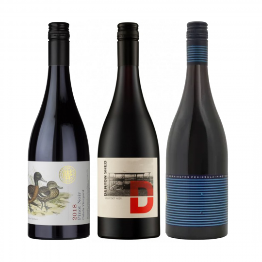 """<p dir=""""ltr""""><span>Pinot noir, the prince of grapes! We make incredible Pinot noir here in Australia, particularly from these three regions.<br><br></span></p><p dir=""""ltr""""><span>Three pinots, 3 different regions, 3 different styles. All delicious and ready to share.<br><br></span></p><p>1 x Quealy 'Mornington Peninsula' Pinot Noir, Mornington Peninsula, Vic</p><p>1 x Gippsland Wine Co Pinot Noir, South Gippsland, Vic&nbsp;</p><p>1 x Denton Shed Pinot Noir, Yarra Valley, Vic</p>"""