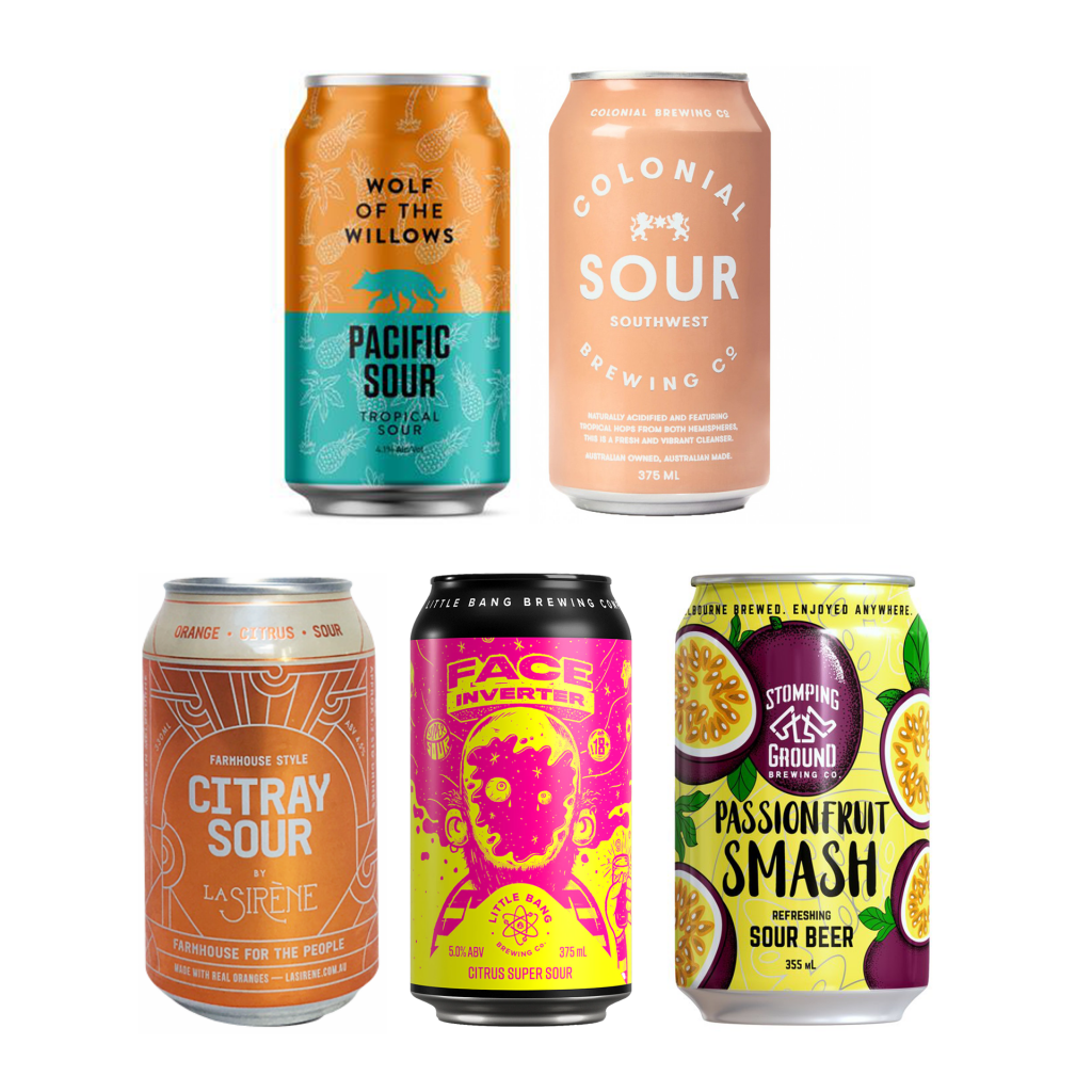 <p>Put a bit of zing in your Spring! This mixed sour bundle is full of citrusy, fruity and deliciously tart sour ales from some of our favourite local breweries.&nbsp;</p><p>&nbsp;</p><p>6 x Colonial South West Sour Cans 375ml</p><p>6 x La Sirene Citray Sour Cans 330ml</p><p>4 x Wolf Of The Willows Pacific Sour Cans 355ml</p><p>4 x Little Bang Face Inverter Citrus Super Sour Cans 375ml</p><p>4 x Stomping Ground Passionfruit Smash Cans 335ml</p>