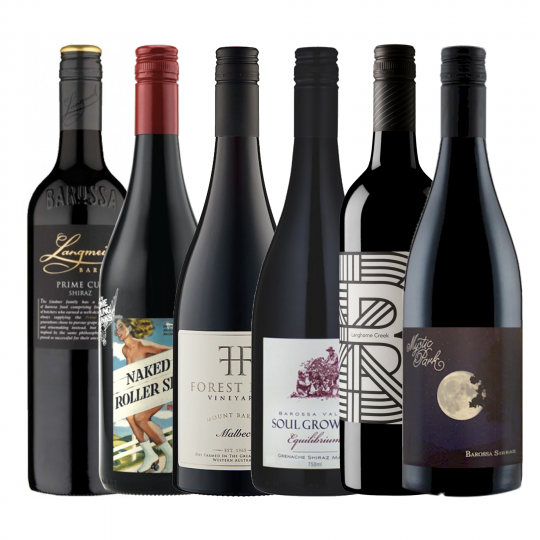<p>Now that the cold has settled in and the slow cooker has taken up residency on the bench - these reds are just what you need.&nbsp; The perfect go-to wines regardless of whats cooking.</p><p>1 x Syp Naked On Roller Skates Shiraz Mataro, Clare Valley, SA<br>1 x Mystic Park Shiraz, Barossa Valley, SA<br>1 x Langmeil 'Prime Cut' Shiraz, Barossa Valley, SA<br>1 x Forest Hill Estate Malbec, Great Southern , WA<br>1 x Soul Growers Equilibrium Grenache Shiraz Mataro, Barossa, SA<br>1 x Angas &amp; Bremer 'The Creek' Grenache Shiraz Mataro, Langhorne Creek, SA</p>
