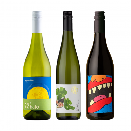 """<p dir=""""ltr""""><span>Wine to balance punchy Asian herbs, spices and chilli.<br><br></span></p><p dir=""""ltr""""><span>22 Degree Halo Sauvignon Fiano is a killer white wine that was made to be paired with Asian food.&nbsp;</span>All grapes reveal their personalities here, with grassy Sauvignon Blanc providing the aromatic lift and the honeysuckle of Fiano.</p><p dir=""""ltr""""><span>For the Gippsland Wine Co Pinot Gris&nbsp;the grapes were wild fermented using wild yeast to commence the ferment. The skins are left a little longer on the juice to enhance a bright copper hue, influencing the tannins and oak profile, or which 20% seasoned oak is employed, accentuating its textural mouthfeel. Perfect for spicy, Eastern flavours.<br><br></span></p><p dir=""""ltr""""><span>We all know duck and pinot are a match made in heaven but the Animale Pinot will work well with all manner of Eastern flavours.<br><br></span></p><p>1 x 22 Degree Halo Sauvignon Fiano 750ml, Riverland, SA</p><p><br>1 x Gippsland Wine Company Pinot Gris 750ml, South Gippsland, Vic</p><p><br>1 x Animale Pinot Noir 750ml, Yarra Valley, Vic</p><p dir=""""ltr"""">&nbsp;</p>"""