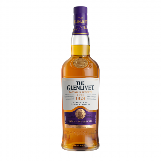 """<p>They say, <em>""""Finished in ex-Cognac casks for a 'raisin-rich' intensity, along with citrus notes and a creamy smoothness.&nbsp;Succulent flavours of mandarins in syrup, ripe poached pears and chocolate-dipped raisins.""""</em></p><p>&nbsp;</p><p>One of the most recognised Scotch whiskies, The Glenlivet started as an illegal dram slipped to King George IV in 1822. When legislation changed two years later, founder George Smith became the first legal distiller in the parish of Glenlivet – hence the name. Smith believed slow and steady wins the race, and The Glenlivet hold true to this, bringing you smooth single malt whiskies that are always, always dependable.</p>"""