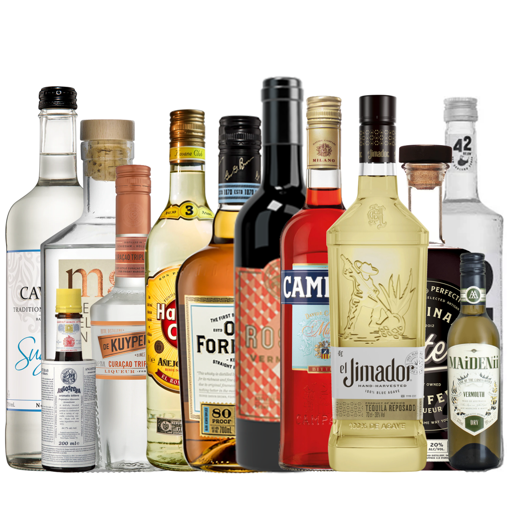 """<p><span style=""""font-weight: 400;"""">A complete home bar is one thing that every grown-up home needs to have. This pack is perfect for those wanting to impress friends and family with a smart set up to show off your bartending skills. Whether you are only just beginning to make cocktails at home or you've been mixing them up for years, it's time to level up your home bar and get creative with cocktail-making.&nbsp;</span></p><p>&nbsp;</p><p><span style=""""font-weight: 400;"""">Consisting of 12 high-quality products, you're only limited by your imagination.&nbsp;</span></p><p>&nbsp;</p><p><span style=""""font-weight: 400;"""">Included in our Complete Bar bundle:</span></p><p>&nbsp;</p><p><span style=""""font-weight: 400;""""><span>1 x The Melbourne Gin Company Dry Gin : 700ml</span></span></p><p><span style=""""font-weight: 400;""""><span>1 x Havana Club Anejo 3 Anos White Rum : 700ml</span></span></p><p><span style=""""font-weight: 400;""""><span>1 x 42 Below Pure Vodka : 700ml</span></span></p><p><span style=""""font-weight: 400;""""><span>1 x Old Forester Bourbon : 700ml</span></span></p><p><span style=""""font-weight: 400;"""">1 x El Jimador Reposado 100% Agave : 700ml</span></p><p><span style=""""font-weight: 400;"""">1 x Carters Original Coffee Liqueur : 750ml</span></p><p><span style=""""font-weight: 400;"""">1 x De Kuyper Triple Sec : 500ml</span></p><p><span style=""""font-weight: 400;"""">1 x Adelaide Hills Dist Vermouth Rosso : 750ml</span></p><p><span>1 x Maidenii Dry Vermouth : 375ml</span></p><p><span>1 x Campari : 700ml</span></p><p><span style=""""font-weight: 400;"""">1 x Cawsey's Sugar Syrup : 750ml</span></p><p><span style=""""font-weight: 400;"""">1 x Angostura Bitters : 200ml</span></p>"""