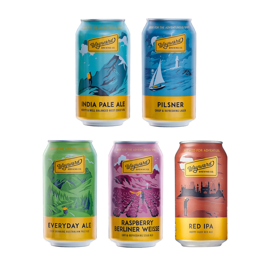 <p>Wayward start from classic European styles, then head boldly off the beaten track. They're independent and experimental, but careful: they pick the best ingredients from around the world and perfect each brewing method to craft all-natural, ultra-flavoursome beers.</p><p><br>Find your bearings with our mixed-pack intro to their core range.</p><p>&nbsp;</p><p>6 x Wayward Brewing Everyday Ale 375ml&nbsp; &nbsp;</p><p>6 x Wayward Brewing Pilsner 375ml&nbsp; &nbsp;</p><p>4 x Wayward Brewing IPA 375ml&nbsp; &nbsp;</p><p>4 x Wayward Brewing Raspberry Berliner 375ml&nbsp; &nbsp;</p><p>4 x Wayward Red IPA 375ml&nbsp; &nbsp;</p><p>&nbsp;</p><p><em>Range subject to availability. If stock is unavailable after you've placed your order, we'll get in touch to offer suitable replacements.</em></p>