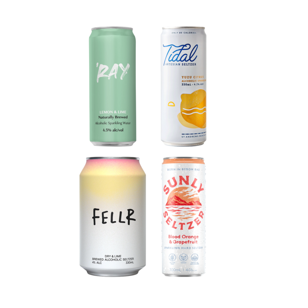 <p>For those who love variety as much as they love low-cal refreshment, this mixed pack is for you. It'll see you through spring picnics and sweltering summer days.</p><p>&nbsp;</p><p>4 x Ray Lemon &amp; Lime Hard Seltzer 330ml</p><p>4 x St Andrews Tidal; Artesian Seltzer Yuzu Cans 330ml</p><p>4 x Fellr Alcoholic Brewed Seltzer Dry &amp; Lime 330ml</p><p>4 x Sunly Seltzer Blood Orange &amp; Grapefruit 300ml</p>