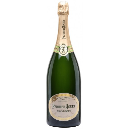 <p><span>Perrier-Jouët Grand Brut champagne epitomises the heritage of Maison Perrier-Jouët. Perpetuating the House's tradition of brut champagnes. It is a harmonious cuvée in which the luminous notes of Chardonnay are perfectly complemented by Champagne's two red grape varieties, Pinot Noir and Pinot Meunier.</span></p>