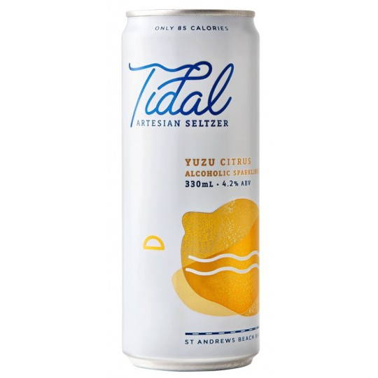 <p>Work hard, seltz hard. Tidal seltzer is brewed on the Mornington Peninsula from pure artesian spring water and all-natural ingredients to produce a lightly boozy thirst-quencher.</p>