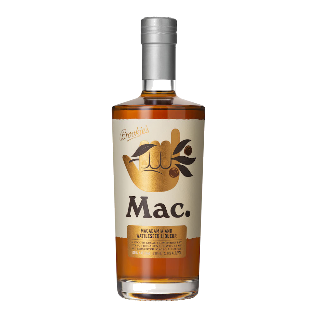 <p><em>A&nbsp;smooth local from Byron Bay. Expect decadent<span>&nbsp;</span></em>flavours<em>&nbsp;of Butterscotch, Cacao &amp; Coffee.</em></p><p>&nbsp;</p><p>Mac. by Brookie's is a premium roasted Macadamia &amp; Wattleseed liqueur. Crafted with natural ingredients, Mac. was made to shake things up!</p><p>&nbsp;</p><p>A versatile little nutter made from locally sourced roasted Macadamia Nuts &amp; toasted Native Australian Wattleseed. The end result is the 'Mac Daddy' of all nut liqueurs.</p>